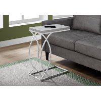 Cement and Chrome Contemporary Accent Table