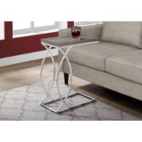 Taupe and Chrome Contemporary Accent Table
