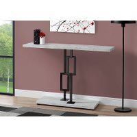 Cement and Black 48 Inch Modern Accent Table