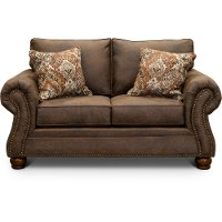 Casual Traditional Mocha Brown Loveseat - Tahoe