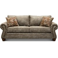 Casual Traditional Graphite Brown Sofa - Tahoe