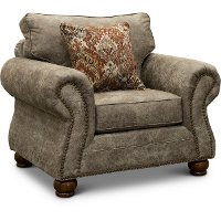 Casual Traditional Graphite Brown Chair - Tahoe