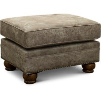 Casual Traditional Graphite Brown Ottoman - Tahoe