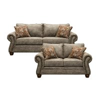 Traditional Graphite Brown 2 Piece Living Room Set - Tahoe