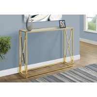 Gold Contemporary 42 Inch Metal Console Table
