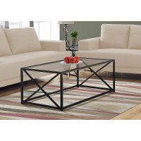 Black Contemporary 44 Inch Metal Coffee Table