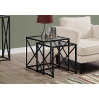 Black Contemporary Metal Nesting End Tables