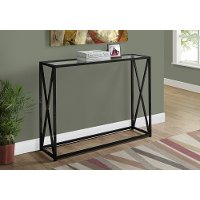 Black Contemporary Metal Accent Table
