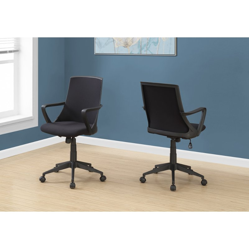 Black Computer Chair with Mesh Back
