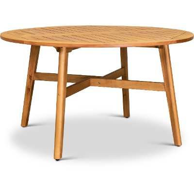 Natural Eucalyptus Wood Round Patio Table - Glades