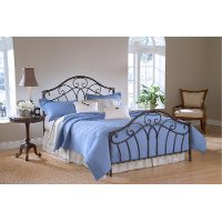 KIT Traditional Brown King Metal Bed - Josephine