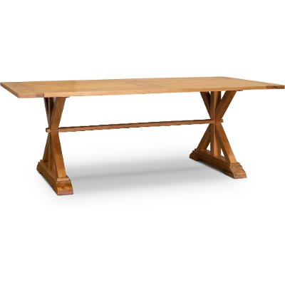 Natural Eucalyptus Wood Patio Table - Glades