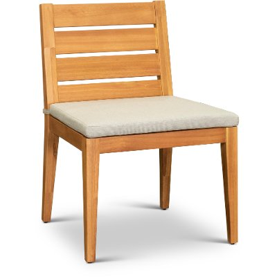 Natural Eucalyptus Wood Patio Dining Chair - Glade