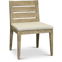 Weathered Gray Eucalyptus Wood Patio Dining Chair - Glades