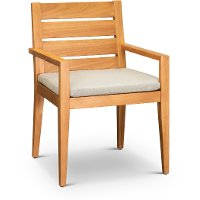 Natural Eucalyptus Wood Patio Arm Chair - Glades