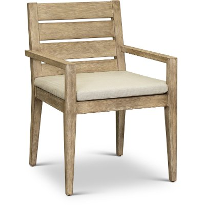 Weathered Gray Patio Arm Chair - Glades