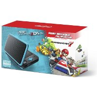 2DS JAN S BADB New Nintendo 2DS XL with Mario Kart - Black and Turquoise