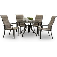 Bronze 5 Piece Patio Dining Set - Amsterdam