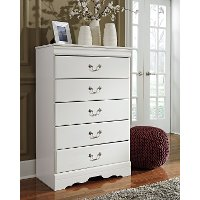 Traditional White Chest of Drawers - Anarasia