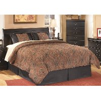 Classic Black Full Sleigh Headboard - Huey Vineyard