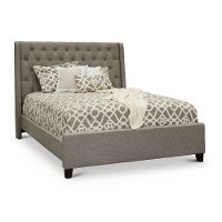 KIT Classic Natural Beige Queen Upholstered Bed - Churchill