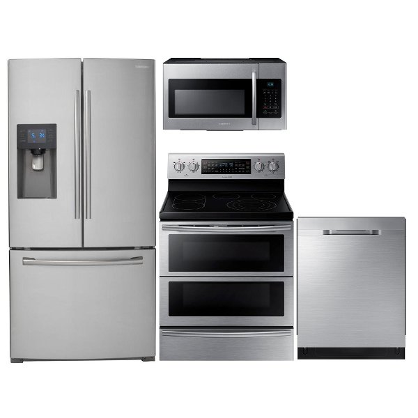 ... KIT Samsung 4 Piece Kitchen Appliance Package With Electric Ragne   Stainless  Steel ...
