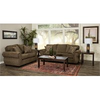 Casual Traditional Coffee Brown 7 Piece Living Room Set - Southport