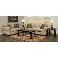 Traditional Canvas 7 Piece Living Room Set with Sofa Bed - Southport