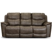 Sable Brown Leather-Match Power Reclining Sofa - Cade