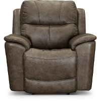 Sable Brown Leather-Match Power Recliner - Cade