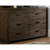 1987-717 Rustic Contemporary Brown Dresser - St. Croix
