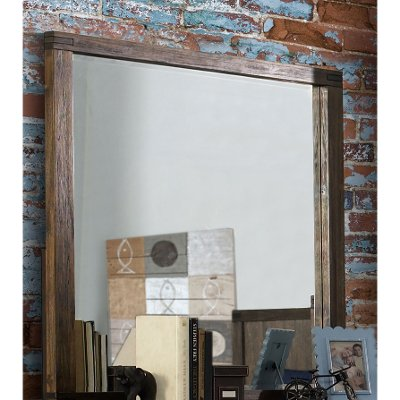 1987-721 Rustic Contemporary Brown Mirror - St. Croix