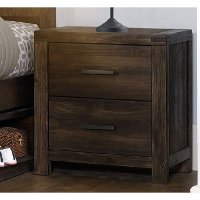1987-771 Rustic Contemporary Brown Nightstand - St. Croix