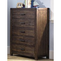 1987-785 Rustic Contemporary Brown Chest of Drawers - St. Croix