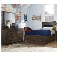 KIT Rustic Brown 4 Piece Full Bedroom Set - St. Croix