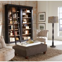 3 Piece Two Tone Brown Bookshelf Wall - Toulouse