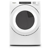 WED5620HW Whirlpool Intuitive Touch Controls Electric Dryer - 7.4 cu. ft. White