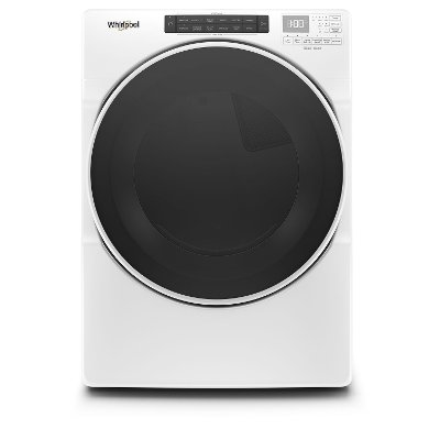 WED6620HW Whirlpool 7.4 cu. ft. Front Load Electric Dryer with Steam Cycles - White