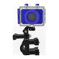 Sharper Image Waterproof 1080p HD Blue Action Camera