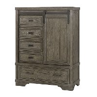 FN-CR-2725SD-BPT Rustic Pewter Gray Chifforobe - Foundry