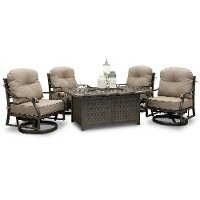 Traditional Patio Fire Pit Set - Macan