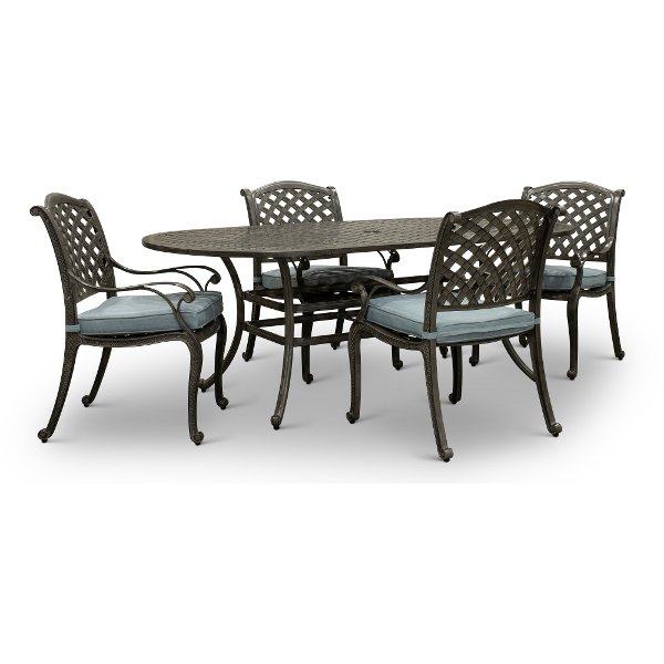 Source outdoor furniture Cushions Piece Patio Dining Set With Oval Table And Armchairs Macan Patio Furniture Outdoor Furniture At Rc Willey Searching World