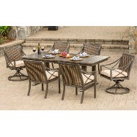 Cast Aluminum Sunbrella Patio Dining Set -  Davenport