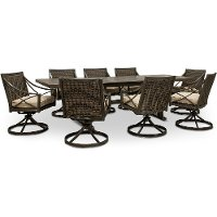 Sunbrella Fabric 9 Piece Patio Dining Set - Davenport
