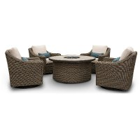Woven 5 Piece Fire Pit Chat Set - Oak Grove