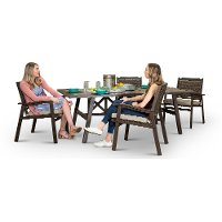 Ash Gray 5 Piece Patio Dining Set - Glenwood