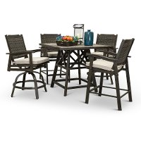 Ash Gray Outdoor Patio Pub Dining Set - Glenwood