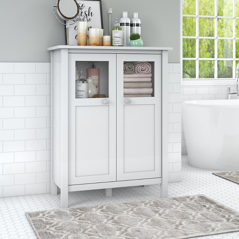 White Bathroom Storage Cabinet Broadview