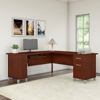 Cherry L Shaped Desk - Somerset