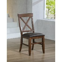 Brown Upholstered Game Table Chair - Savannah